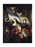 Marshal Ney Gives Back to the Soldiers of the 76th Line Regiment their Standards Giclee Print by Charles Meynier
