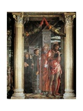 Saints John and Lorenzo and Two Saints, Detail from San Zeno Altarpiece, 1456-1460 Giclee Print by Andrea Mantegna