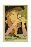 Reproduction of a Poster Advertising the '5th Exhibition of the Salon Des Cents' Giclee Print by Georges de Feure