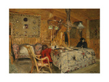 Denise Natanson and Marcelle Aron at the Summer House, Villerville, Normandy, C.1910 Giclee Print by Edouard Vuillard