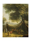 Tent in Countryside with Live Music, Detail from Spring Giclee Print by Antonio Diziani