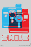 Smile Polaroid Poster Wall Sign
