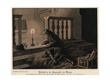 Frederick the Great of Prussia on the Night of the Victory at the Battle of Torgau Giclee Print by Carl Rochling