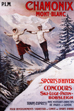 Chamonix Mont-Blanc, France - Skiing Promotional Poster Wall Sign by  Lantern Press