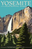 Yosemite Falls - Yosemite National Park, California Plastic Sign by  Lantern Press