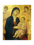 Madonna and Child, Detail from the Maesta' of Duccio Altarpiece in the Cathedral of Siena Giclee Print by Duccio Di buoninsegna