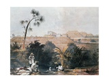 View of Mayan Ceremonial Center of Uxmal, Yucatan, Mexico Giclee Print by Frederick Catherwood