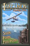 Lake Union Float Plane, Seattle, Washington Wall Sign