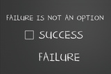 Failure Is Not An Option Wall Sign by  IJdema