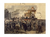 The Laying of the Cornerstone of the Galleria Victor Emmanuel II in Milan, March 7, 1865 Giclee Print by Domenico Induno