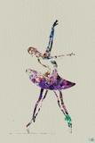 Ballerina Watercolor 4 Carteles de plástico por  NaxArt