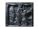 Marys at the Sepulchre, Detail from the Right Pulpit, Basilica of St Lawrence, Florence Giclee Print by Donatello