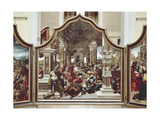 Feast of Job's Sons or Destruction of Job's Children Giclee Print by Bernard van Orley