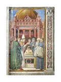 Baptism of St. Augustine, Detail from Stories of St. Augustine, 1465 Giclee Print by Benozzo Gozzoli