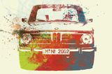 BMW 2002 Front Watercolor 2 Plastic Sign by  NaxArt
