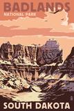 Badlands National Park, South Dakota - Castle Rock Wall Sign