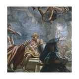 Figure of Apostle, Detail of Frescoes of Dome of Parma Cathedral Giclee Print by Antonio Allegri Da Correggio