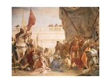 Alexander the Great with Darius' Family Giclee Print by Giambattista Tiepolo