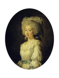 Portrait of the Louise Marie Josephine, Comtesse De Provence, Later Queen of France Giclee Print by Elisabeth Louise Vigee-LeBrun