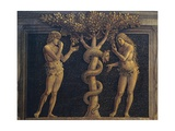 Adam and Eve Committing Original Sin, Detail from Virgin of Victory, 1496 Giclee Print by Andrea Mantegna