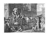 The Assault on John Malcolm, Boston, January 25, 1774 Giclee Print by Francois Godefroy