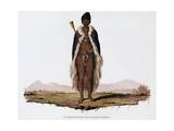 Captain Obtaining in Ceremonial Dress Giclée-Druck von Francois Le Vaillant