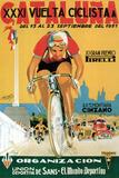 Pubblicità di corsa ciclistica Targa di plastica di  Lantern Press