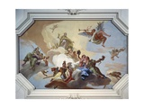 Glory Among the Virtues: Fame, Glory, Justice, Fortitude, Temperance and Prudence, 1734 Giclee Print by Giambattista Tiepolo