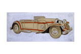 An Illustration Showing a 1924 Delage with Coachwork by Letourneur Et Marchand Giclee Print by Ernst Deutsch-dryden