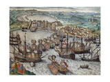The Capture of La Goulette and Tunis by Charles V, 1535 Giclee Print by Franz Hogenberg