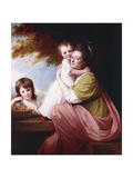 Group Portrait of Dorothy Stables and Her Daughters Giclee Print by George Romney