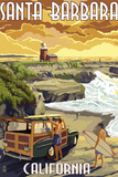 Santa Barbara, California - Woody and Lighthouse Wall Sign