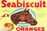 Lindsay, California, Seabiscuit Brand Citrus Label Wall Sign