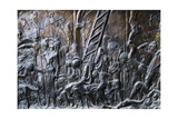 Deposition of Christ from the Cross, Detail from the Left Pulpit, Basilica of St Lawrence, Florence Giclee Print by Donatello
