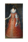 Portrait of the Infanta Isabella Eugenia, Standing Full-Length Wearing a Brocade Dress, 1593 Giclee Print by Alonso Sanchez Coello