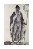 Hottentot Man, Engraving from Travels into Interior of Africa Via Cape of Good Hope Giclée-Druck von Francois Le Vaillant