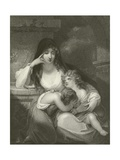 Lady Pamela Fitzgerald, the Widow of Lord Edward Fitzgerald and Her Children Giclee Print by George Romney