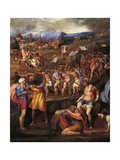 Battle of Montemurlo and Rape of Ganymede, August 1, 1537 Giclee Print by Battista Franco
