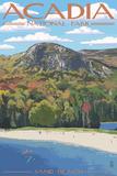 Acadia National Park, Maine - Sand Beach Scene Wall Sign