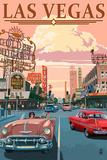 Las Vegas Old Strip Scene Wall Sign