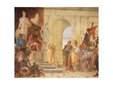 Magnanimity of Scipio, Detail from Glories of Scipio Africanus and Alexander the Great, 1743 Giclee Print by Giambattista Tiepolo