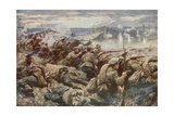 Barring the Way: an Heroic Russian Rearguard During the Great Polish Retreat Giclee Print by Arthur C. Michael