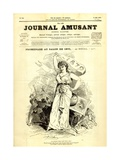 Promenade at the Salon of 1870, Front Cover of the 'Journal Amusant' 14 May 1870 Giclee Print by Charles Albert d'Arnoux Bertall