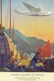 Pan-American Clipper Flying Over China - Hong Kong, China Wall Sign