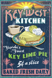 Key West, Florida - Key Lime Pie Plastic Sign by  Lantern Press