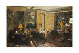 Room with Three Lamps, Rue St. Florentin; Le Salon Aux Trois Lampes, Rue St. Florentin, 1899 Giclée-Druck von Edouard Vuillard