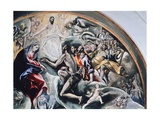 Angels and Saints, Detail from Burial of Count Orgaz, 1586-1588 Giclee Print by El Greco