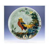 A Large Emile Diffloth Glazed Earthenware Charger, Depicting a Golden Pheasant Impression giclée par Eugene Carriere