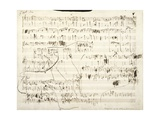 Handwritten Score for Mazurka in F Minor, Opus 68, No 4, 1849 Giclee Print by Frederic Chopin