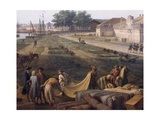 Sale of Cotton Fabrics, Detail from Port of Rochefort, 1762 Giclee Print by Claude-Joseph Vernet